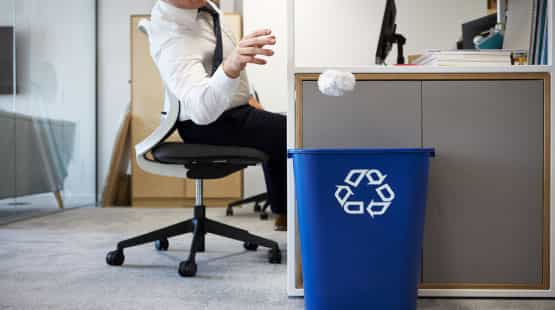 waste paper recycling bin
