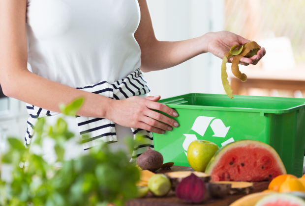 Food waste being recycled